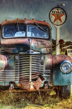 Old International At Texaco Photograph by Lisa Moore