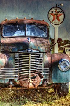 Old International At Texaco Photograph by Lisa Moore