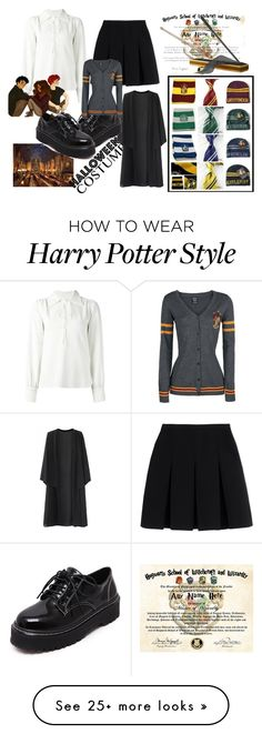 """""""Hogwarts Student"""" by mocking-birdie on Polyvore featuring Alexander Wang, See by Chloé, WithChic, MAGICAL, feelinmyself, 9and3quarters and GotMyLetter"""