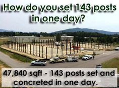 How do you set 143 posts in one day? #PoleBuilding #HouseWrap
