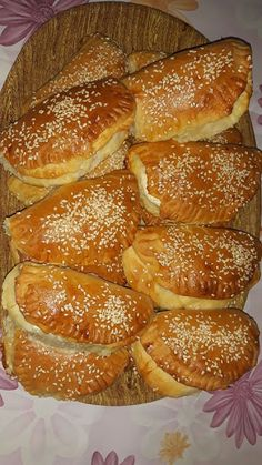Sweets Recipes, Appetizer Recipes, Cooking Recipes, Empanadas, The Kitchen Food Network, Greece Food, Eat Greek, Bread Dough Recipe, Greek Sweets