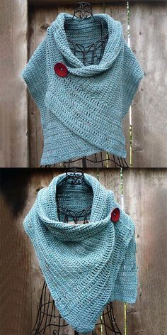 Chunky Knitting Patterns, Crochet Poncho Patterns, Crochet Coat, Crochet Shawls And Wraps, Loom Knitting, Crochet Clothes, Vogue Knitting, Knitting Machine, Crochet Gifts