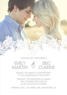 Delicate Overlay Wedding Invitations