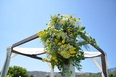 Yellow Ceremony Arch Flowers