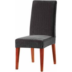 Sure Fit Stretch Pinstripe Short Dining Room Chair Cover, Black , New, Free Ship - Go Shop Home & Garden Sure Fit Slipcovers, Dining Room Chair Slipcovers, Dining Room Chair Covers, Dining Room Table Decor, Dining Room Furniture, Dining Chairs, Modern Furniture, Slipcover Chair, Furniture Design