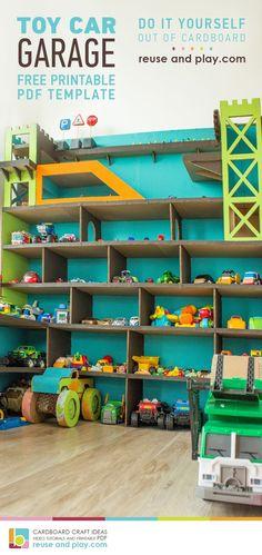 Toy Car Garage Display Free PDF