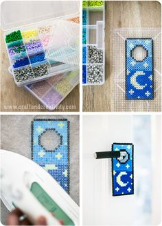 Hama bead door hanger