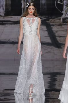 Malu Wedding dress | Couture Wedding dresses line by YolanCris at Barcelona Bridal Week