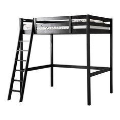 IKEA STORA High Sleeper Loft Double Bed Frame in BLACK (for 140x200cm mattress)