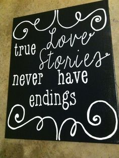 True love stories never have endings. Canvas. Quote Canvas. True Love. Wedding. on Etsy, $30.00