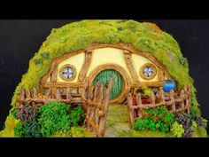 DIY Polymer Clay Hobbit House Jar/Lantern || Maive Ferrando - YouTube