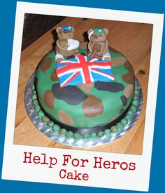 Help For Heroes Cake . Help For Heroes, British Armed Forces, Band Of Brothers, School Fundraisers, Cakes And More, Morning Coffee, Afternoon Tea, Fundraising, Respect