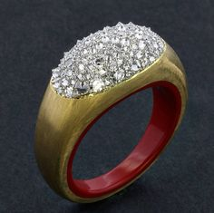 James Taffin de Givenchy. 22 karat gold and diamond ring © Taffin Jewelry