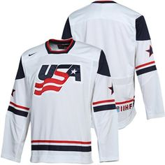 Nike USA Hockey Jersey Team Usa Hockey, Sports Team Logos, Team Wear, Sport Wear, College Football, Hockey Sweater, Usa National Team, Us Olympics, Hats For Men