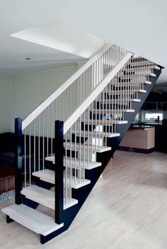 trapp med underliggende vanger – Google Søk Teak, Stairs, Google, Design, Home Decor, Stairway, Decoration Home, Room Decor