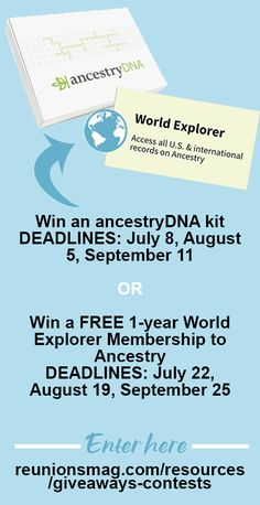 Ancestry Dna, Family Trees, Family Reunions, Giveaway, Family Gatherings, Genealogy