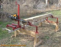 """You don't always have to buy your lumber for your woodworking projects. Everyone comes across """"urban lumber"""" from downed trees but have no idea what they can do with it. I suggest you make your own small lumber. Lumber Mill, Wood Mill, Wood Tools, Diy Tools, Woodworking Jigs, Woodworking Projects, Woodworking Equipment, Woodworking Basics, Woodworking Magazine"""