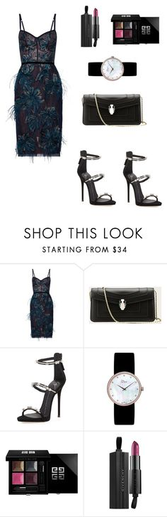 """""""Wonder"""" by kamiren ❤ liked on Polyvore featuring Notte by Marchesa, Giuseppe Zanotti, Christian Dior and Givenchy"""