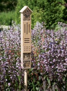 Create a haven for songbirds, butterflies and mason bees with our bamboo shelters. Set includes one each birdhouse, butterfly house and mason bee house. Decoration Shabby, Bug Hotel, Mason Bees, Bee House, Butterfly House, Beneficial Insects, Backyard, Patio, Garden Pests