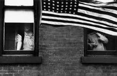 """""""Parade — Hoboken, New Jersey,"""" From """"The Americans. - """"Parade — Hoboken, New Jersey,"""" From """"The Americans. The Americans, Jack Kerouac, Documentary Photographers, Street Photographers, Famous Photographers, Magnum Photos, New Jersey, Robert Frank Photography, American Flag Photography"""