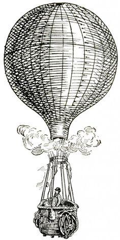 Vintage Images - Hot Air Balloons - Steampunk - The Graphics Fairy