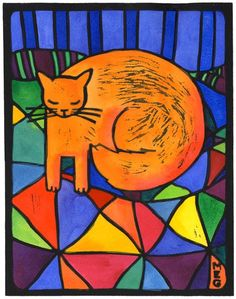 Hope this finds you well and that you get purrs of contentment from this vibrant Cat lino print! This is one of the new art+quote pairings from the 2015 Bold Cat Art Calendar, which Bold Souls say … Continue reading → Family Drawing, Art Calendar, Picture Blog, All About Cats, Hand Coloring, Cat Art, Fur Babies, Art Quotes, Illustration Art