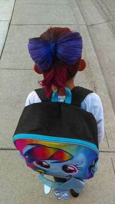 Crazy hair day at school Crazy color Hair bow