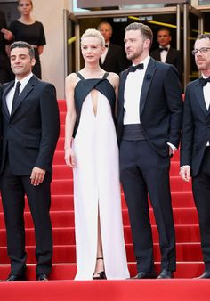 """Inside Llewyn Davis"" Premiere:  Carey Mulligan In Vionnet with Justin Timberlake at the Cannes Film Festival 2013"