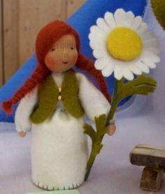 Margerite - Blumenkind für den Jahreszeitentisch