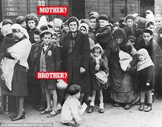 The photograph shown to Ivor Perl which he believes may show his mother and one of his siblings while queuing at Auschwitz concentration camp