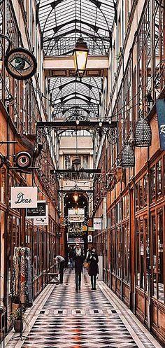 Paris Passage du Grand Cerf, France