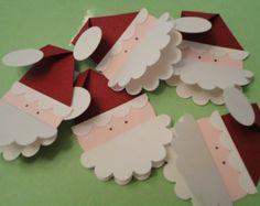 Christmas Gift Tags - Santa (set of 5)