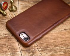 Brown iPhone 7 Case Leather iPhone 7 Case iPhone 7 Plus Iphone 7 Cases Leather, Iphone Wallet Case, Iphone 7 Plus Cases, Handmade Leather Wallet, Brown, Etsy, Initials, Products, Brown Colors