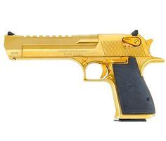 Desert Eagle® Mark XIX Pistol, .50 AE, Titanium Gold - Pistola de oro que se hace de serie.