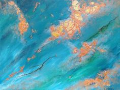 Oceans Alive abstract painting by Goldstarwork, Artist Laura Wilson. need some ideas for your next painting here is 21 of them.