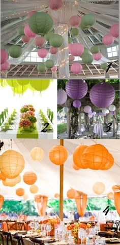 #wedding Bunting, banners, paper decorations big 2013 for both DIY and top shelf budgets. Why not paper lanterns - indoor, outdoor and colourful