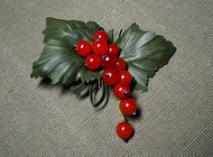 Redcurrant brooch by leasstudio on Etsy