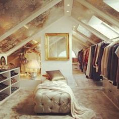 Love this! Turn your attic in to a chic closet.