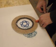 spirograph made of old bike parts
