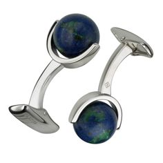 In platinum-plated brass and azurite, £250