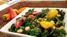 I find this a very satisfying dish, great side accompaniment to several other dishes. I love the vibrant colours of this dish, so inviting and attractively pleasant to the eyes. It's a very quick meal to prepare that is full of vitamins and iron – makes a great vegetarian Vegan dish.