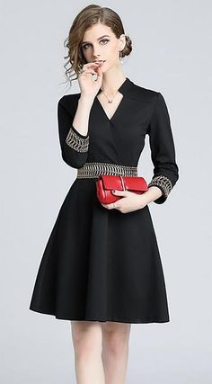 Embroidered Little Black Dress Winter Shoes For Women 3edf5d10d