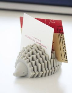 Hedgehog card holder from MoMA.