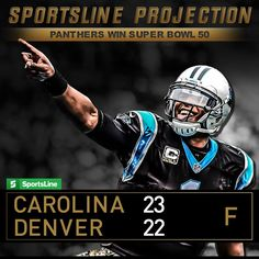 The SportsLine projection says the Super Bowl is going to be a close one. Panthers Win, Nfl Playoffs
