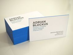 My new business cards - produced by Polychroma Hamburg
