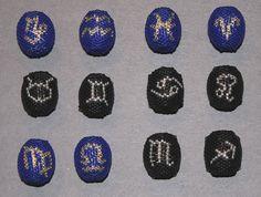 Sternzeichen I Immer Wieder Perlen Beading, Design, Astrology Signs, Stars, Beads, Bead Weaving, Design Comics, Twin Beads