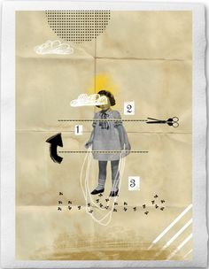collage and mixed media. Eine Der Guten  Sabrina Tibourtine