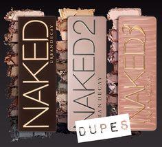 Naked Palettes Dupes