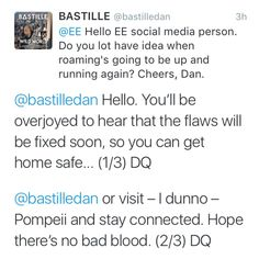 Dan Smith of Bastille falling victim to some terrible puns...