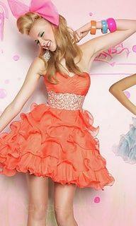 Fun Prom fashion! So lovely and adorable! ORANGE MUFFIN!!!